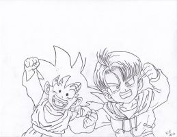 Trunks and Goten by Tapions-Flute