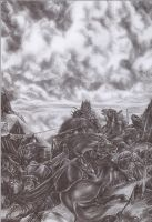 Warg War by sauronthegreateye