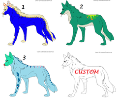 Wolf Adoptables -open- by DiloAdopts