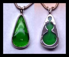 Moldavite Pendent by manwithashadow