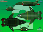 Thunderbird 2 - Heavy Duty Transporter by haryopanji