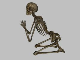 Skeleton - Praying - JPG by markopolio-stock