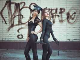Catwoman cosplay by Graipefruit