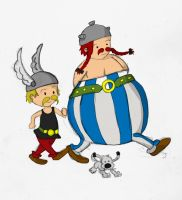 Asterix, Obelix and Idefix by whosname