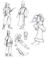 some Wuxia sketches by laperen