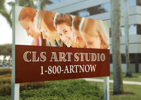 Large Outdoor Signage Mockup Template by loswl