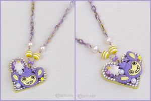 Commission: Aipom deco necklace by decoland