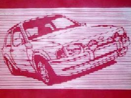 Stencil of Car by TEK13