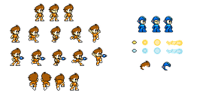 8-bit chibi rock sprite sheet by Little-pebbles