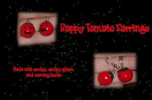 Happy Tomato Earrings by ladythesta