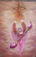 Pink Warrior Angel by ChristopherPollari