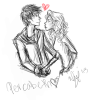 Percabeth- First ever tablet sketch by MinaxSnitch