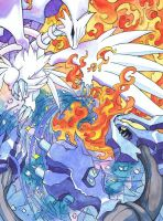 The World ends in Fire or Ice by HallowGazer