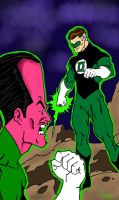 Hal and Sinestro by Chazzwin