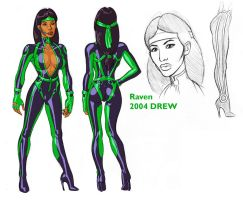 Raven Model sheet by DrewGardner