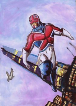 Captain Britain by willow616