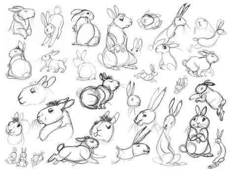 Watership Down Sketches- 01 by killskerry