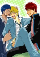 Versus who?! Aomine vs Kagami x Kise by megumonster