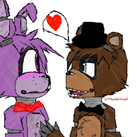 (Fnaf) Bonnie X Freddy ~ Boneddy? by ThunderXLeaf