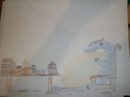 Saphira's love of cakes by fatthoron
