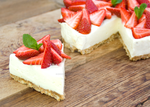 Vanilla Cheesecake with Strawberries by iconsPhotography