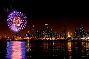 Chicago City Lights by amandameadows