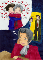 Edgeworth likes to Daydream by Alcnolien
