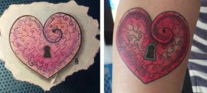 Heart Tattoo by JENJYart