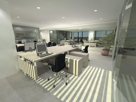 Interior Kebon Sirih Office by charamone