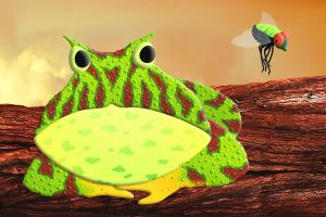 Pacman Frog an Green Bottlefly by FauxHead
