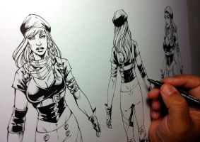 MODEL SHEET - LORENNA COMICS by MARCIOABREU7