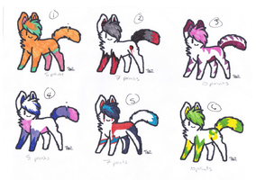 Cat Adopts (5/6 open) by AvalaAdopts