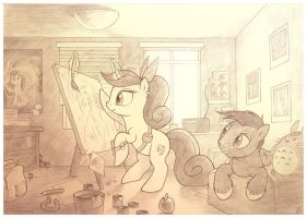 Spirit Brush and her room by sherwoodwhisper