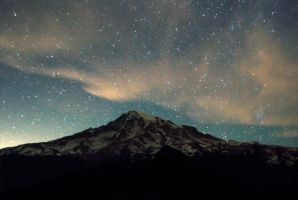 Mountain Starry Night by megpetersonphotos