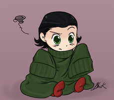 Loki Vs the Sweater. by caycowa