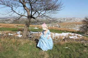 blue 18thc gown in spring ? by Abigial709b