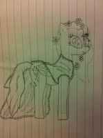 Uncoloured very rough scarlet in a wedding dress by Nutmeg777