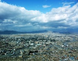 Kabul and blue sky by msnsam