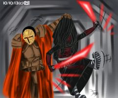 Duel with Mandalore the Ultimate by CyberII