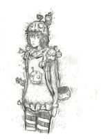 Pumpkin Girl Biro by Nutellax