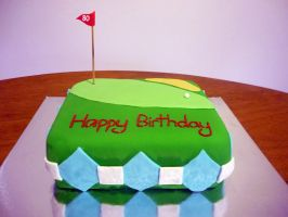 Golf-themed 80th cake by 1-Lilith-1