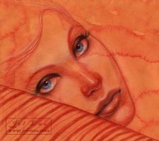 Red Pillow by medusainfurs