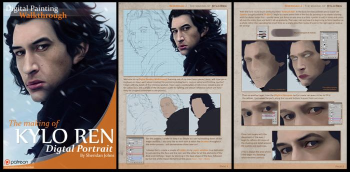 Digital Painting Walkthrough -KYLO REN- by Sheridan-J