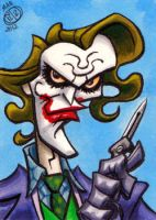 Dark Knight Joker Sketchcard by Chad73