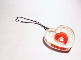 Piece of Heart Phone Charm by Lutrasaura
