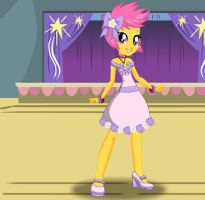 Scootaloo Flower Girl by kimpossiblelove