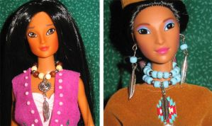 Pocahontas doll jewelry by prettysewingmachine