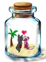 First date...in a bottle? by AmieAdot