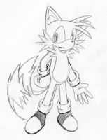 Sketch- Miles Tails Prower 2 by wandablazer