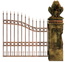Graveyard Gate Right PNG Stock by Roys-Art